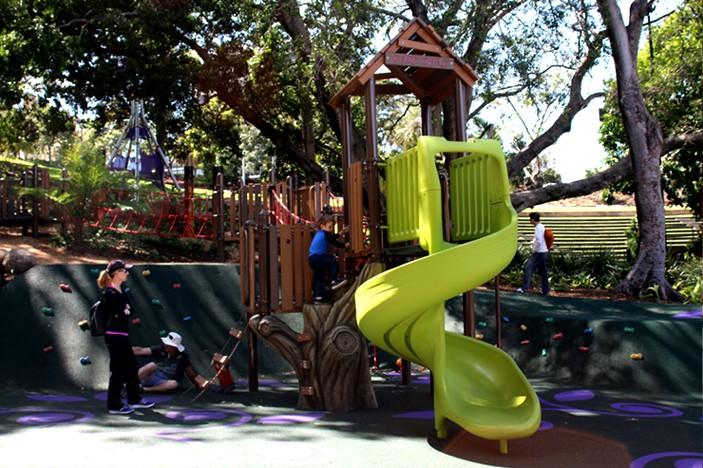 roma street parklands slide
