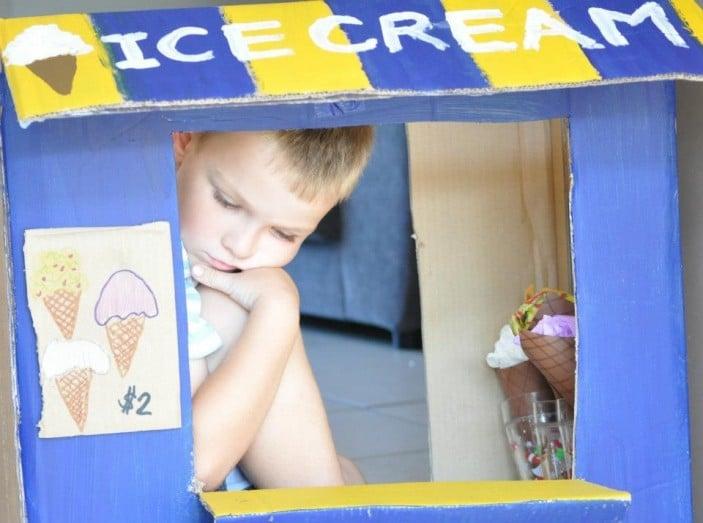 cardboard icecream truck