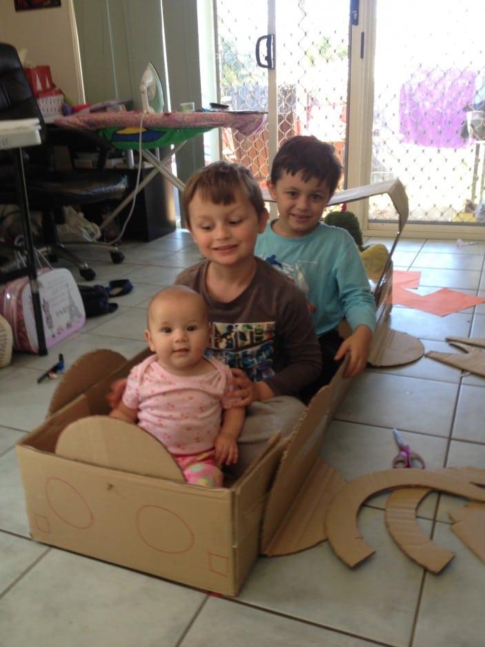 cardboard made car