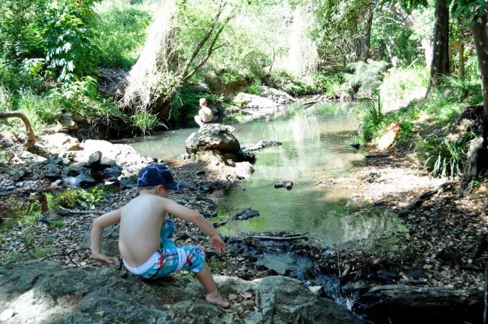 Cedar Creek Climbing-over-Rocks
