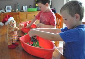 sensory christmas fun for kids