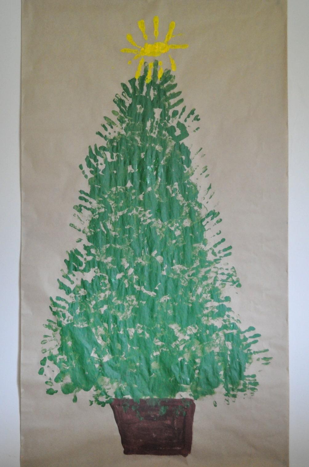 Handprint Christmas Tree | Festive Fun | Brisbane Kids