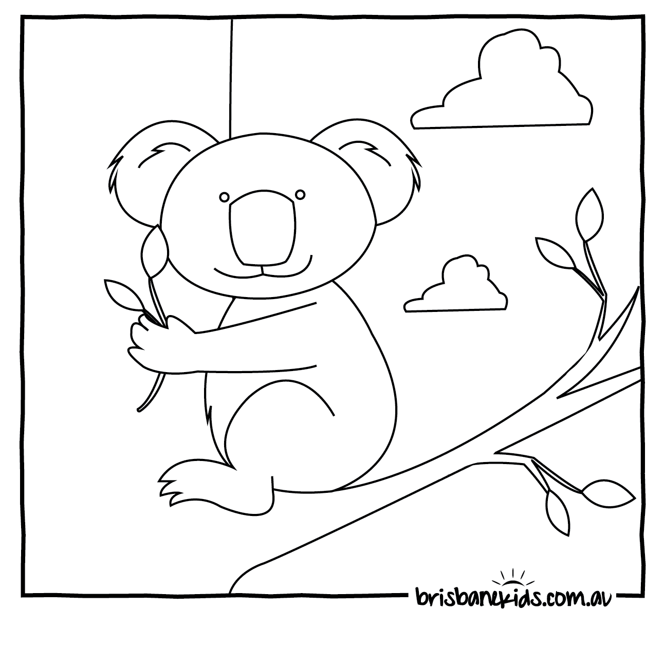 Australian animals colouring pages brisbane kids Coloring book animals pictures