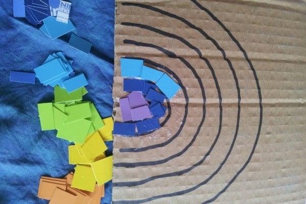 Making a paint sample rainbow