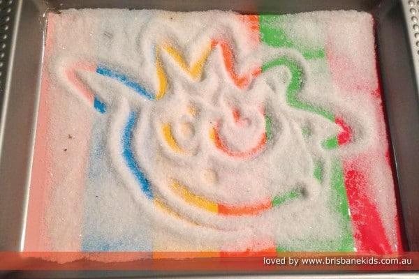 Salt drawings for kids