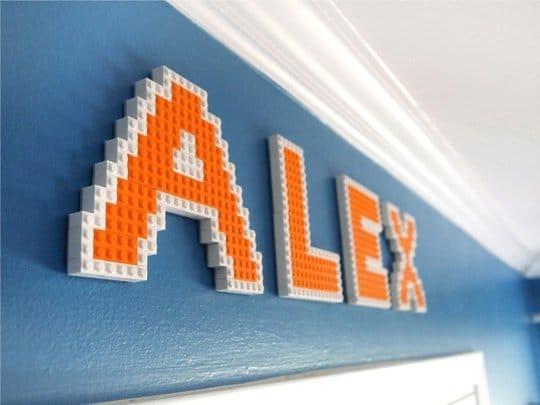 Lego Name Plaque