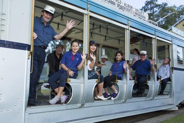 Tram museum in Brisbane