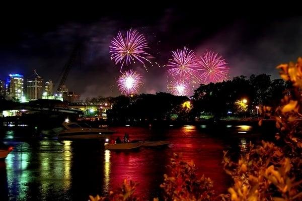 Fireworks vantage points in Brisbane