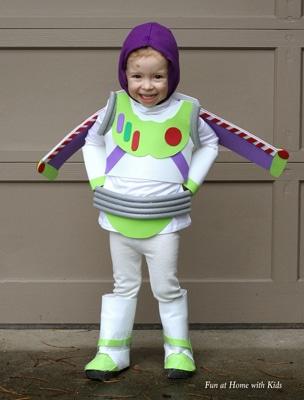 no sew DIY buzz light year costume halloween