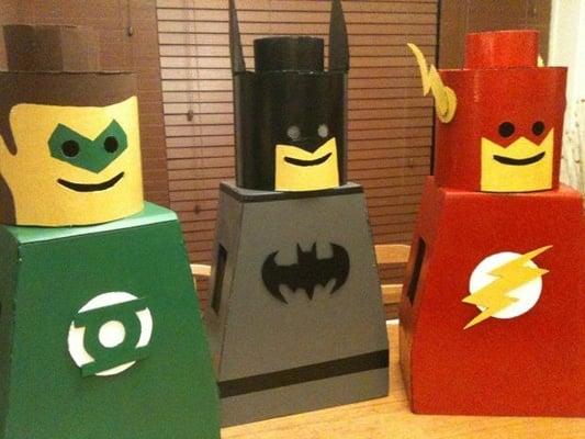 Cardboard box Lego Men DIY halloween costume