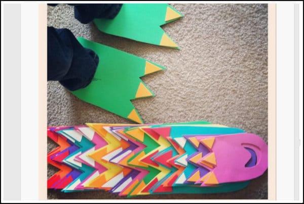 DIY dino feet