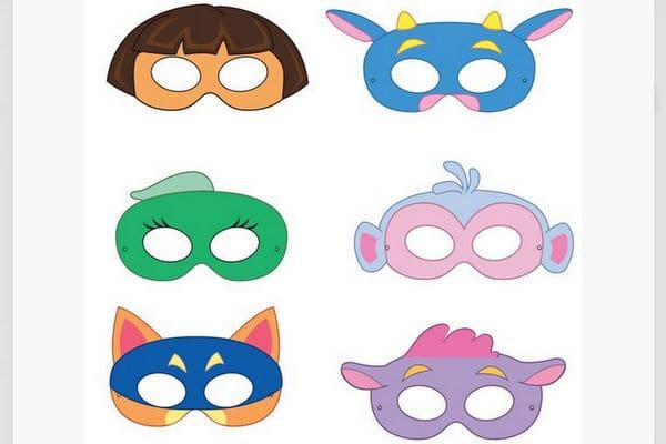 Dora character masks