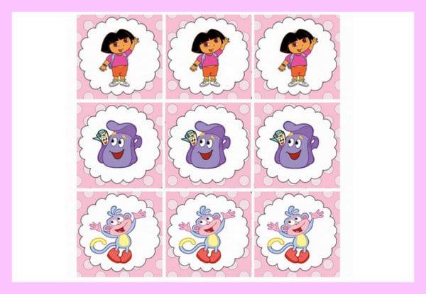 Printables for a Dora party