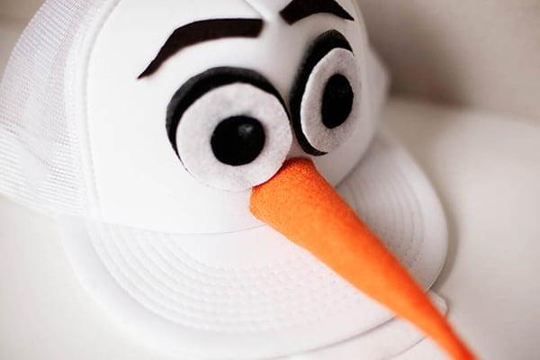 Olaf Halloween DIY hat costume white