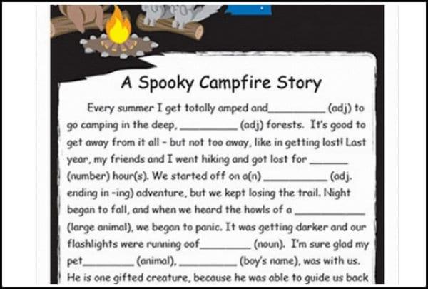 Custom campfire story