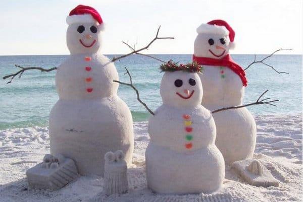 Sand snowmen