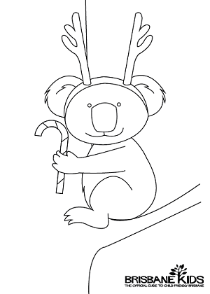australian themed christmas colouring in