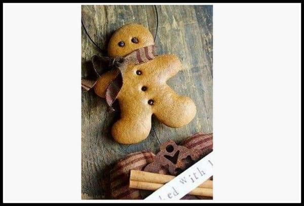 Gingerbread man decorations