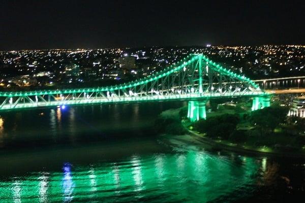 The Story Bridge at night