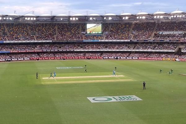 brisbane cricket match underway