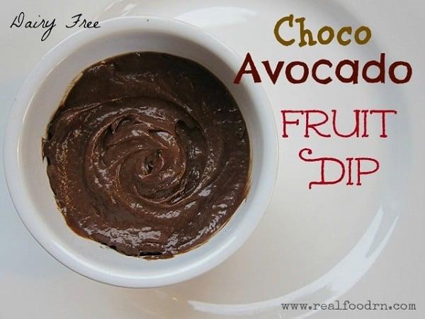 chocolate avocado dip