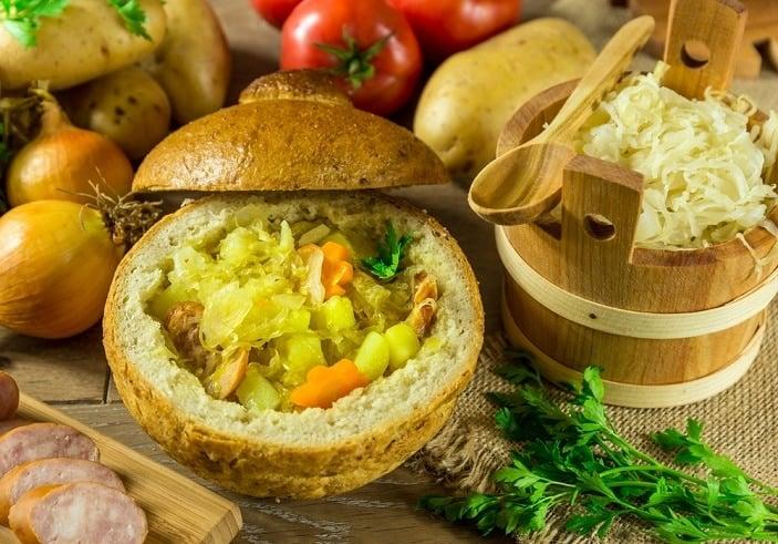 vegetable bread bowl