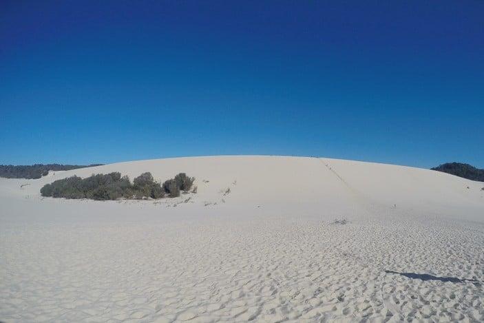 Sand dunes at Tangalooma Desert