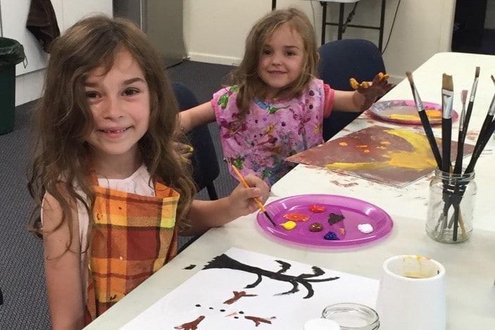 Tammy's Art Studio girls painting