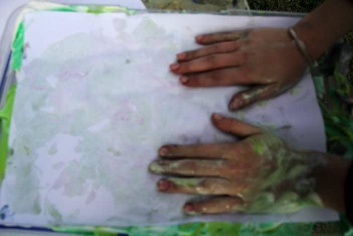 shaving cream paintings