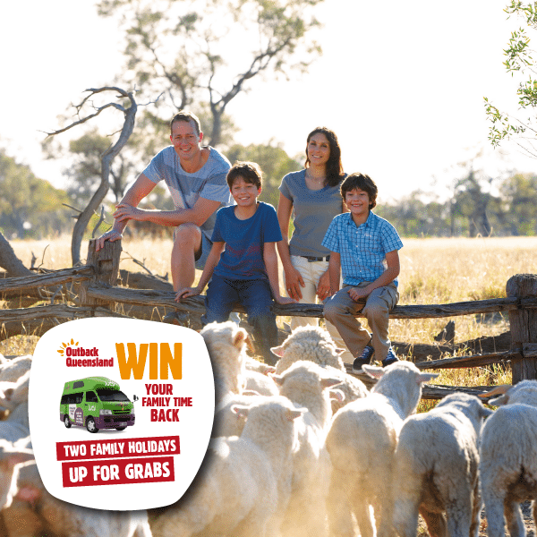 win a competition to the outback