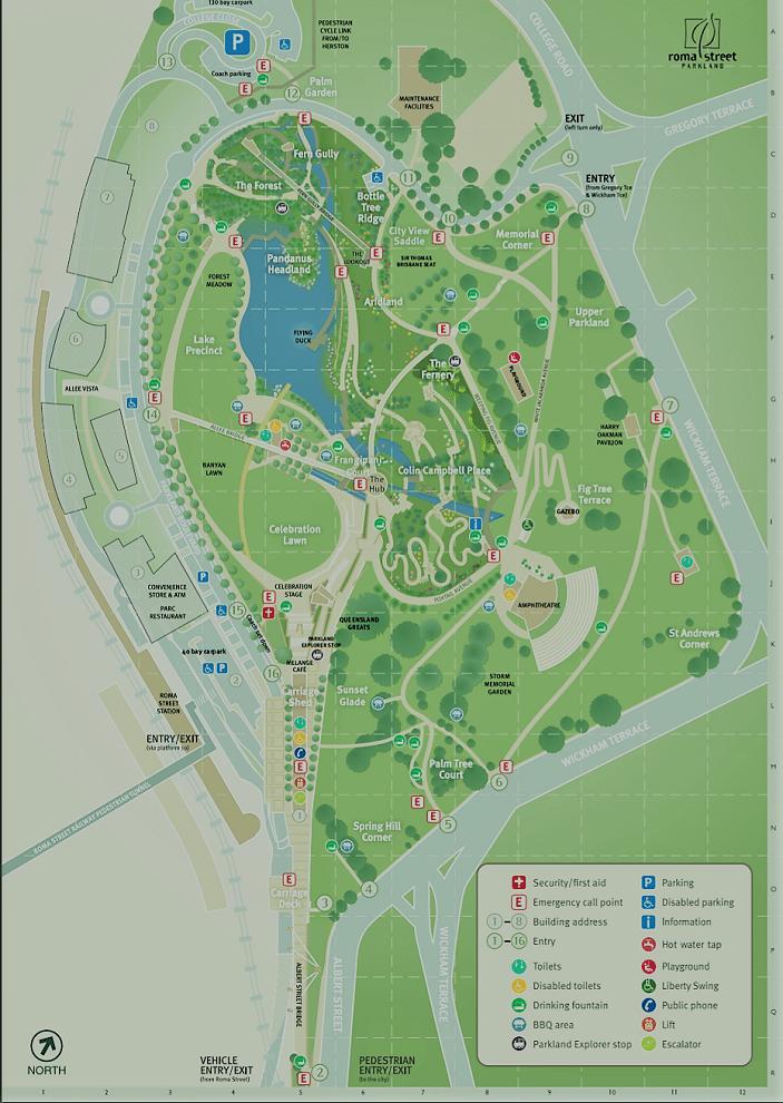 roma street parklands map