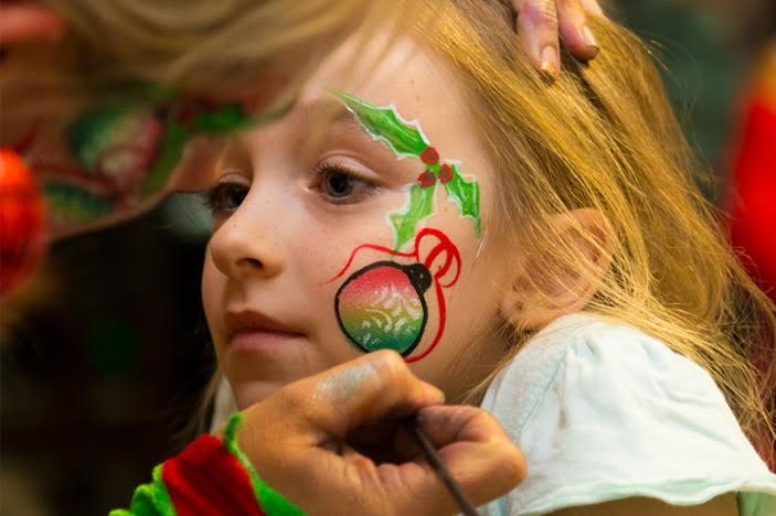 Christmas by the sea Scarborough face painting