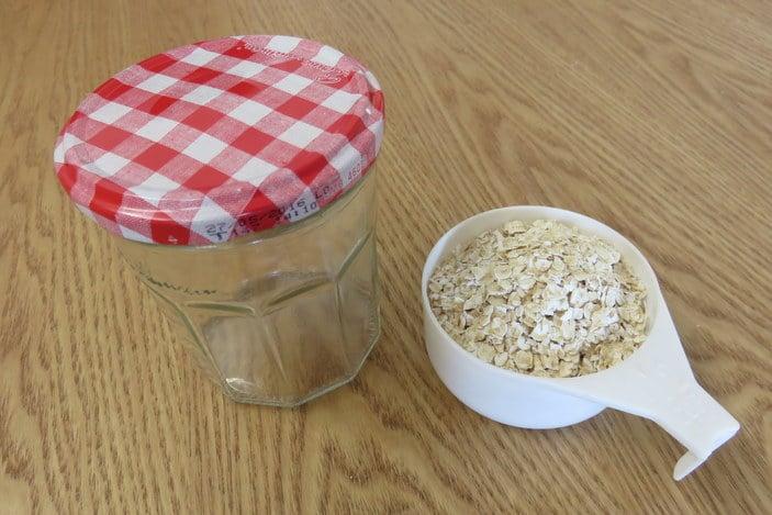 Oats and jar