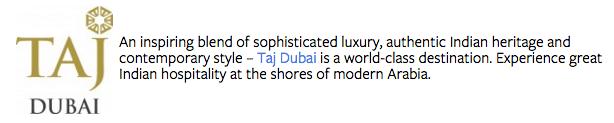Header - Taj Dubai