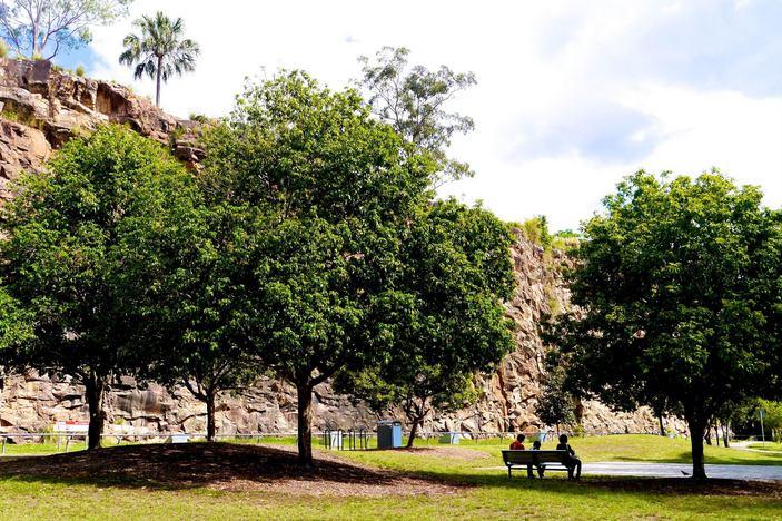 Kangaroo Point park bench