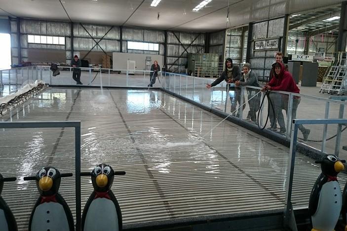 snowflakes in stanthorpe ice skaing rink