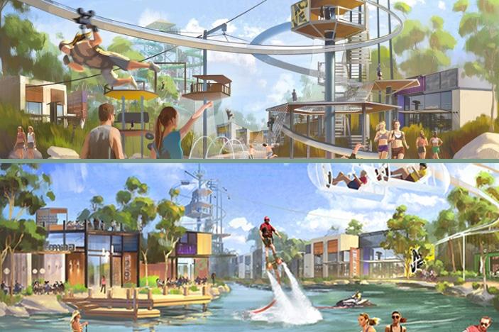 Artist impression of the 'active lifestyle' park (source: Sanad Capital)