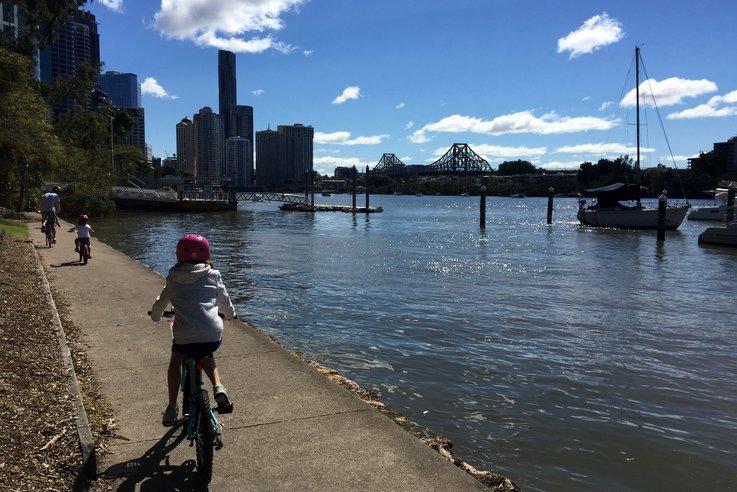 Cycle the Riverwalk, Brisbane
