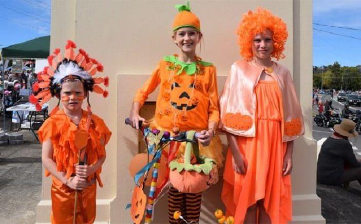 kids pumpkin costumes