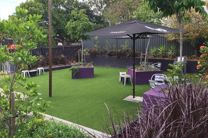Evo Espresso Cafe Play space outside