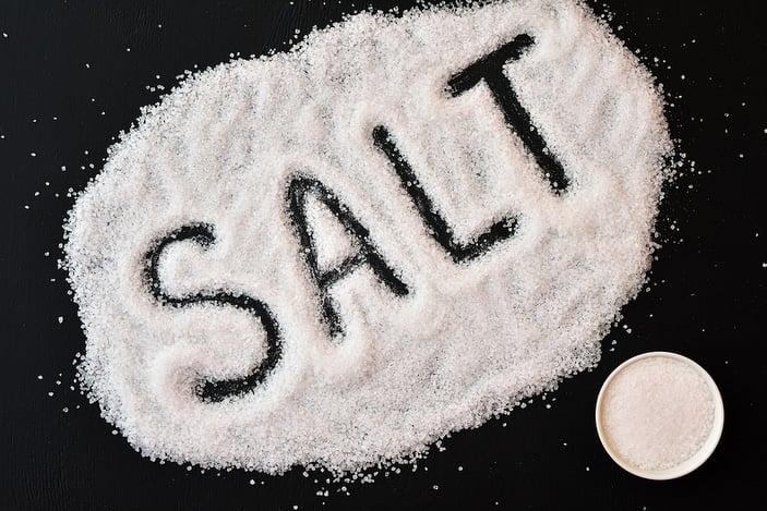 Salt on table