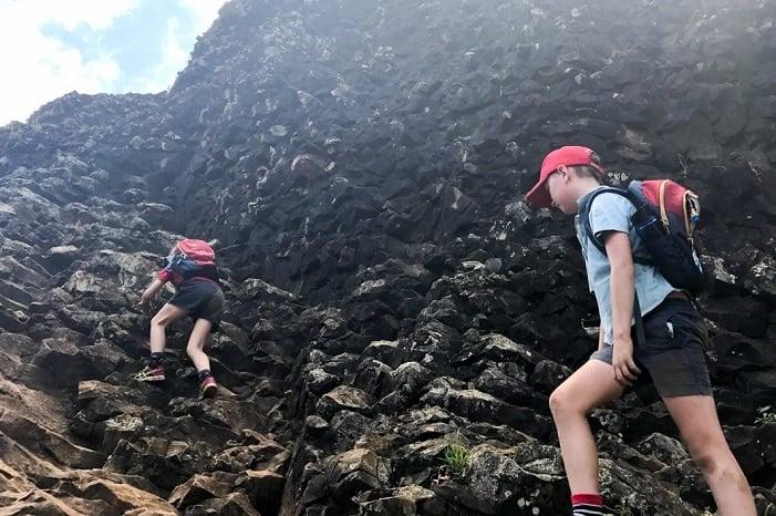 mountain climbing with kids