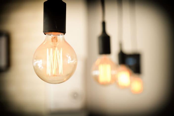 Lightbulbs / globes hanging