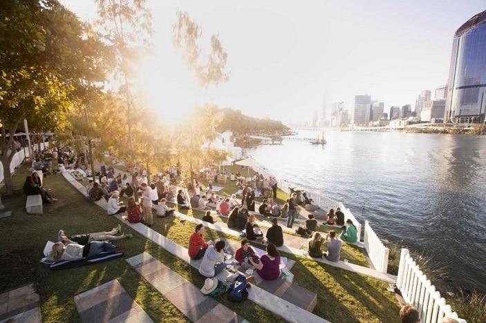 Regional Flavours picnic area, South Bank, Brisbane River,